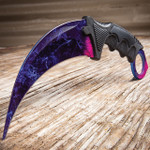 CSGO Counter Strike Cosmic Purple Honshu Karambit (17 BKNK100 CSPU)