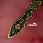 2 Saints Bronze Skull Inlaid Kubotan w/Carbide Glass Breaker Tip