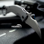 Fox Black Bird Stonewashed Folding Karambit - Emerson Wave (FX-591SW)