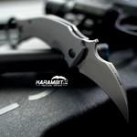 Fox Bastinelli Black Bird Stonewashed Folding Karambit - Emerson Wave (BAS210)