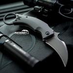 Fox Black Bird Stonewashed Folding Karambit - Emerson Wave (FX-591SW)