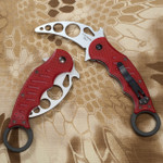 Fox 479 Carbon Fiber Karambit + Fox 479 Trainer + Combat DVD Combo (FOX479E+Fx-Tk+DVD)