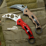Fox 479 Dark Earth + Trainer Karambit - 2 in 1 (FX479E+FX479-TK)