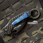 Fox 479 karambit Timascus Pocket clip