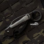 Fox 599 Karambit Damascus Damasteel Pocket Clip
