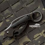 Fox 599 Karambit Black Titanium Pocket Clip