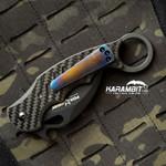 Custom Titanium 3 Hole Pattern Bronze Blue Pocket Clip for Fox and Emerson (BrnzBlueTiClip)