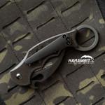 Custom Titanium 3 Hole Pattern Black Pocket Clip for Fox and Emerson (BlackTiClip)