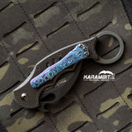 Custom Timascus 3 Hole Pattern Blue Style 2 Pocket Clip for Fox and Emerson (Style2TimaClip)