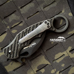 Custom Damascus 3 Hole Pattern Pocket Clip for Fox and Emerson (DamClip)