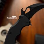 Fox 599 EVO Black G10 Folding Karambit - LAWKS (Fx599EVOBlkG10)