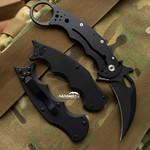 Fox 479 EVO Black G10 Folding Karambit - LAWKS (Fx479EVOBlkG10)