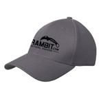 Karambit.com New Era® - Structured Stretch Cotton Hat - Graphite -  view 2. (KbitHat-GRAPHITE)