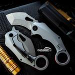 Revo Knives Silver Rhino Karambit (REVRhnoSLVR)