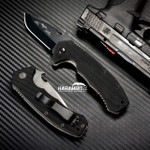 Emerson CQC-14 Black Snubby Folding Knife (EMR-CQC14-Blk-Plain)