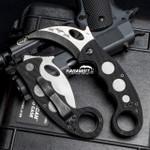 Emerson Stonewashed Folding Combat Karambit + Trainer + DVD - 3 in 1 Package (EmersonSWKbit+EmrsnTrnr+DVD)