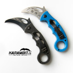 Emerson Black Folding Combat Karambit + Trainer - 2 in 1 Package (EmersonBlkKbit+EmrsnTrnr)