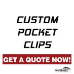 Custom Pocket Clips - Timascus / Damascus / Mokume/ Titanium