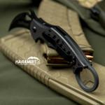 Fox 599 Black G10 Folding Karambit - Emerson Wave (FX599)