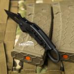 Fox Dart Black G10 Folding Karambit - Emerson Wave (FX597)