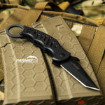 Fox Dart Black G10 Folding Karambit - Emerson Wave (FX597)