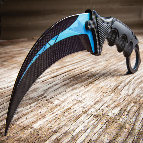 CSGO Counter Strike Cosmic Blue Tech Honshu Karambit (17 BKNK100 BLTC)