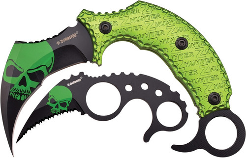 Z-Hunter Green Fixed Karambit 2 in 1 Package (ZB109GN)