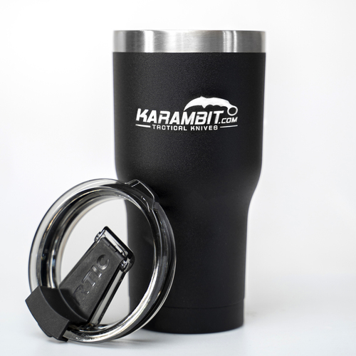 Karambit.com Logo RTIC Black 20oz Laser Engraved Cup (RTICCup)