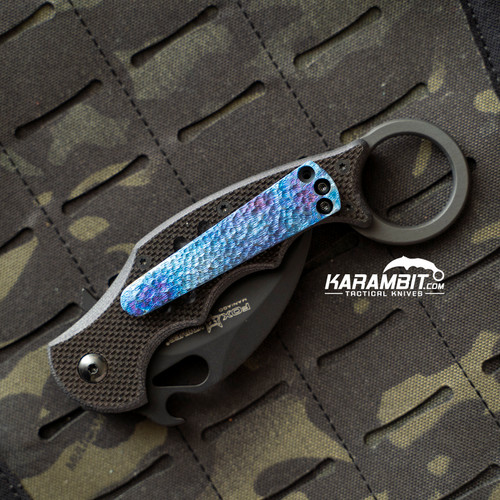 Fox 599 Karambit Timascus Pocket Clip
