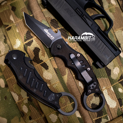 Fox 597  Dart XT Black G10 Folding Karambit - Emerson Wave
