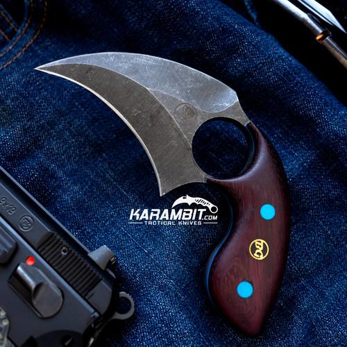 BGBlades Kodiak Purple Heart Wood Dagger (KodiakWoodDagger)