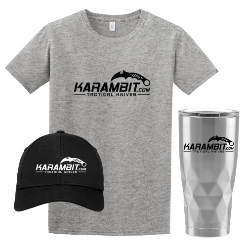 Karambit.com Accessory Bundle. Buy the Hat and Tumbler and the T-Shirt if FREE!