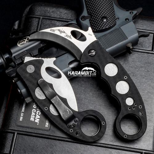 "Emerson Black Combat Folding Karambit w/Reinforced Tip (2.6"") (EMR-KAR-BT)"