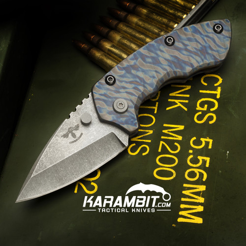James Coogler's Flamed Camo Harrissi Folding Knife