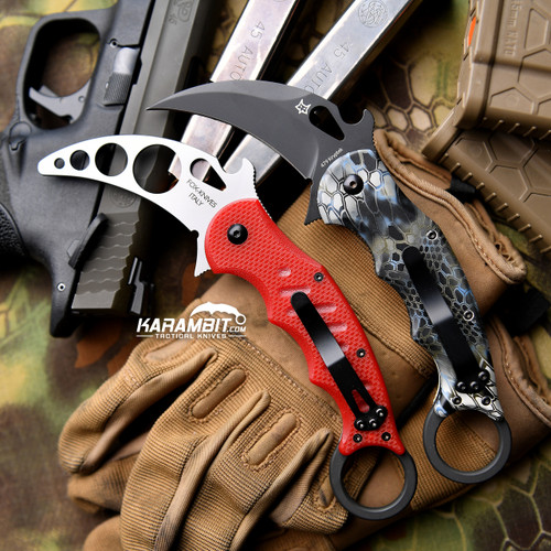 Fox 479 Kryptek Neptune + Trainer Karambit - 2 in 1 package (FX479KN + FX479-TK)
