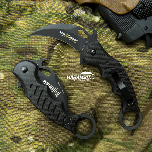 Fox 479 Carbon Fiber Folding Karambit - Emerson Wave