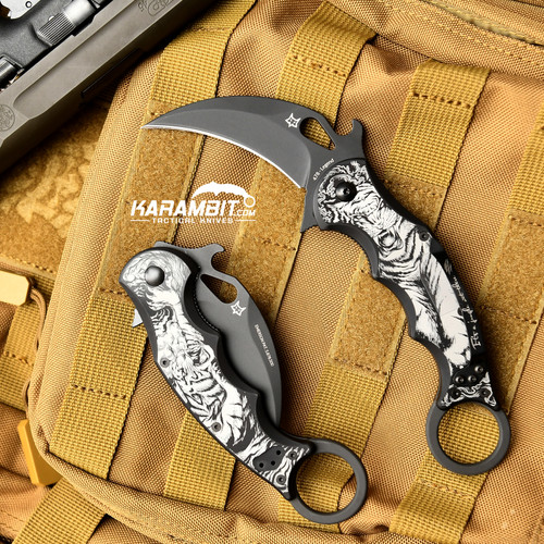 Fox Legend Series Folding Karambit - Tiger (KC-478B-T)