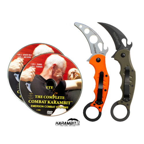 Fox 599 OD Green Karambit + Trainer + DVD - 3 in 1 Package (FX599OD+FX599-TK+DVD)