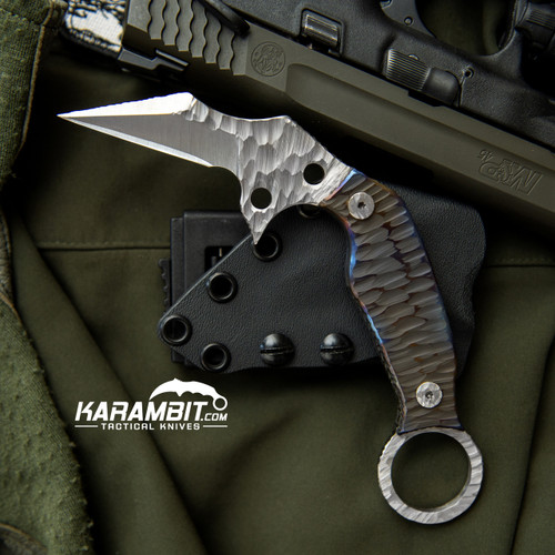 Phantom Steelworks D2 Karambit with Titanium Scales (SteelworksD2TiScales)