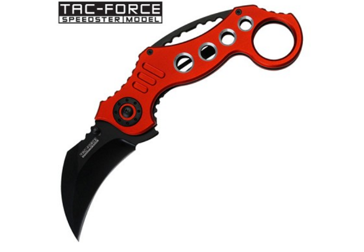 Tac Force Liner Lock Assisted Opening Red Combat Karambit (TF578RD)