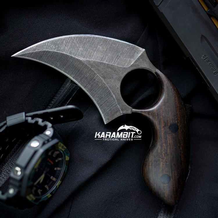 BG Blades Kodiak Dark Wood Dagger