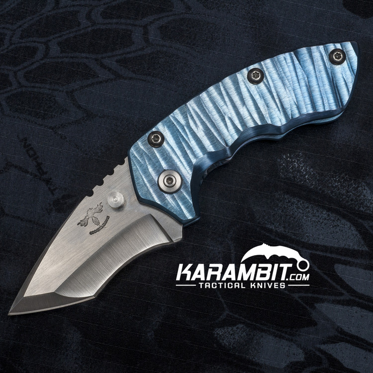 James Coogler's Sky Blue Archangel Harrissi Folding Knife (CooglerAngelHarissiBlueMTO)