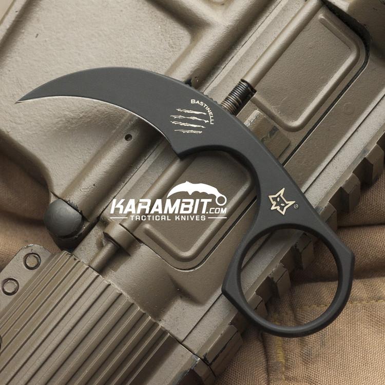 Bastinelli Black Cerakote Diagnostic Neck Knife (BastiDiagnosticNeckBlack)