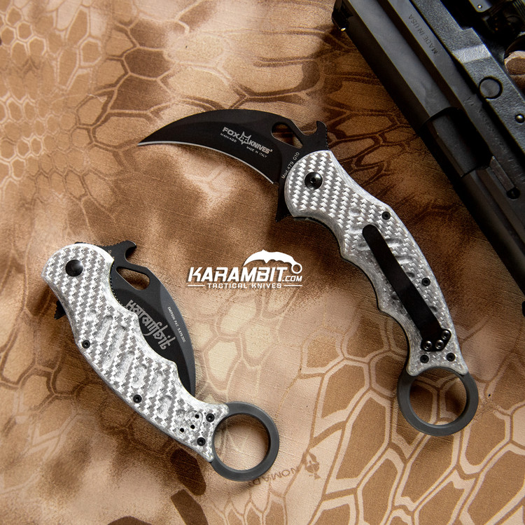 Fox 479 Grey Aluminum Folding Karambit - Emerson Wave (FX479ST)