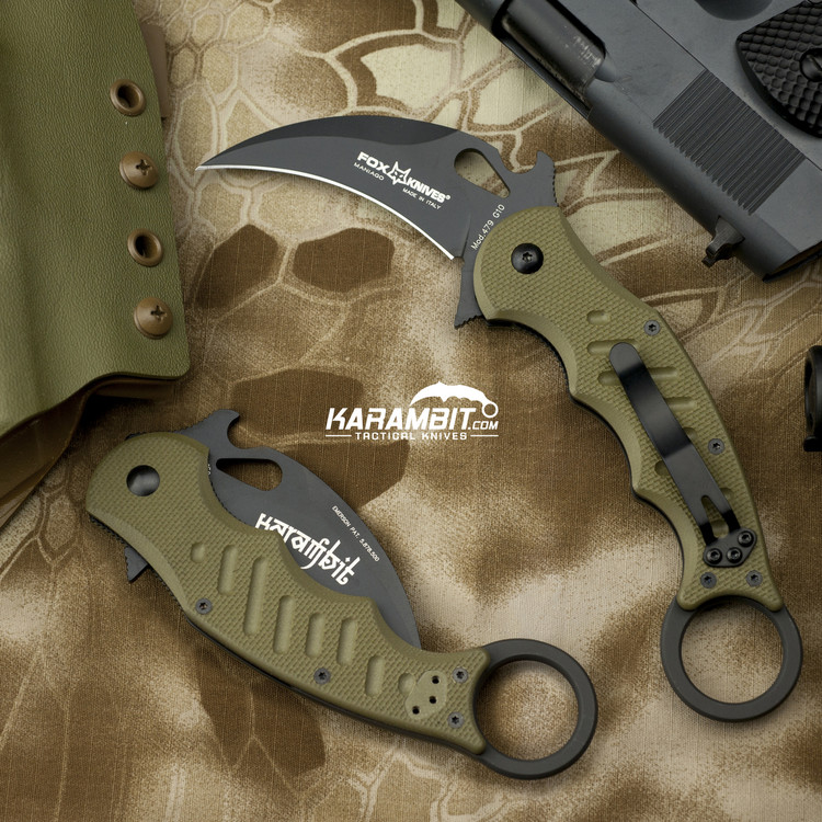 Fox 479 OD Green Karambit + Trainer + DVD - 3 in 1 Package (FX479OD+FX479-TK+DVD)
