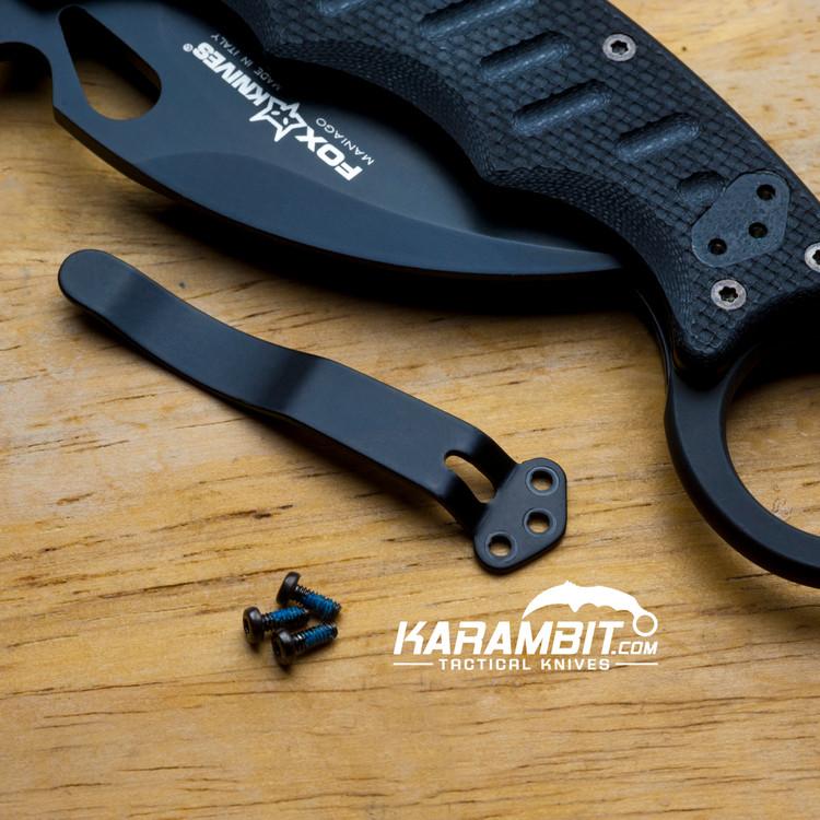 Fox Karambit Replacement Pocket Clip (FoxPocketClipKit)