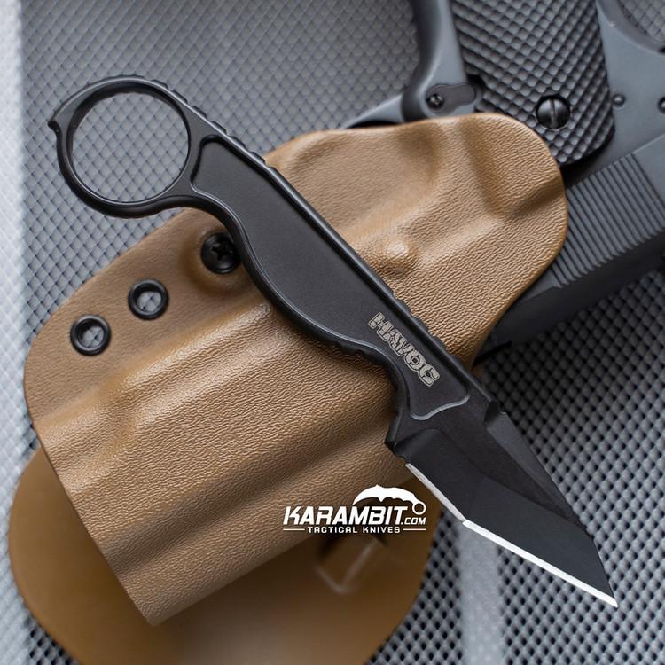 Flagrant Havoc Tanto Blacked Out Neck Knife (FBFHAV02)