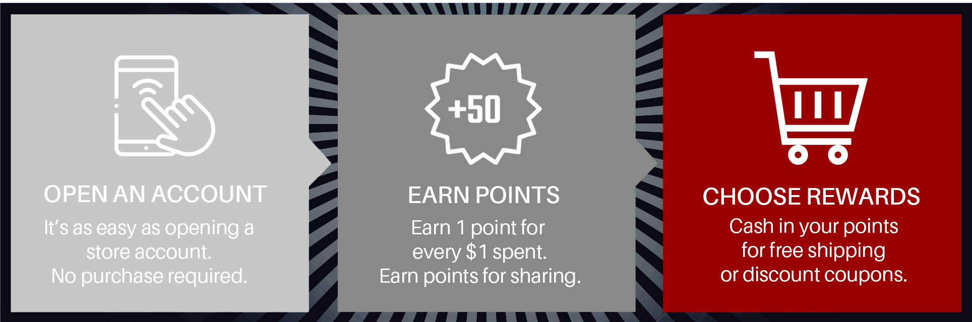 Join the Karambit.com loyalty and rewards program to earn deep discounts