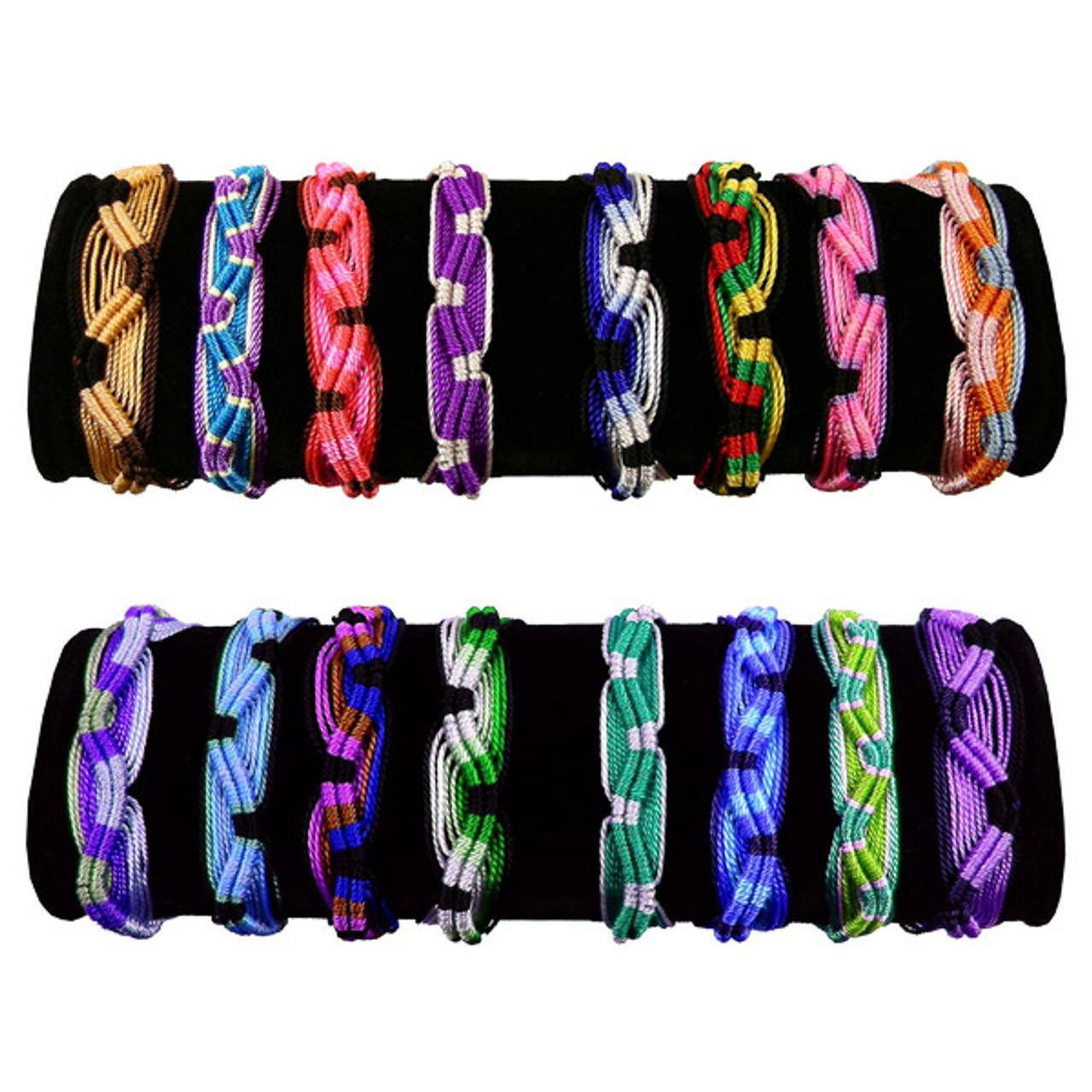 14f5c7c1d936e Friendship Bracelets Wide Lot Mix Bracelet Handcrafted in Peru Acrylic Pack  of 50 Bag Assorted