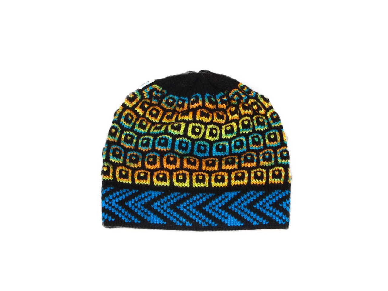 f3934482ef8 Beanie Alpaca Knit Squares and Dots Multicolored Adult Size Peru - Sanyork  Fair Trade